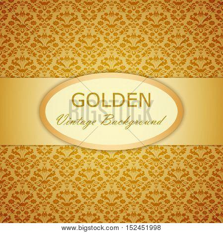 Vector Decorative Ornamental Golden Vintage Background