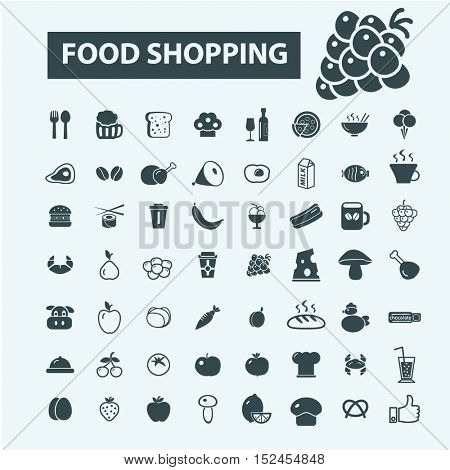food shopping icons