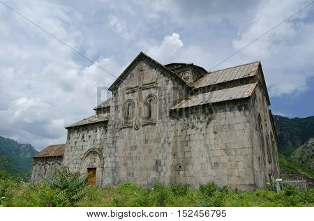 The Akhtala fortress-monastery a 10th-century fortified Georgian Orthodox Church monastery in Armenia