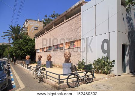TEL AVIV, ISRAEL - AUGUST 24, 2016 : Cityscape in Old North district of Tel Aviv, Israel. This is a popular area for living and recreation in Tel Aviv.