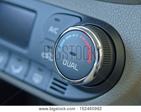 view the control panel of car air conditioning.