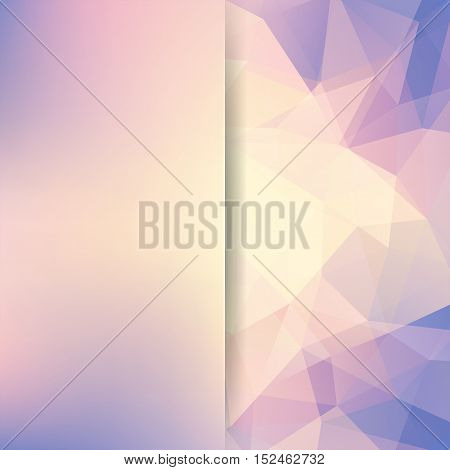 Abstract Polygonal Vector Background. Beige Geometric Vector Illustration. Creative Design Template.
