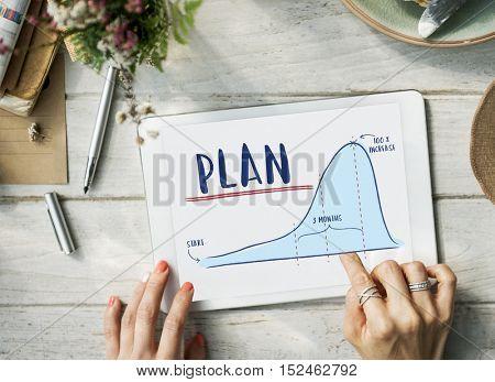 Plan Report Analytics Progress Strategy Concept