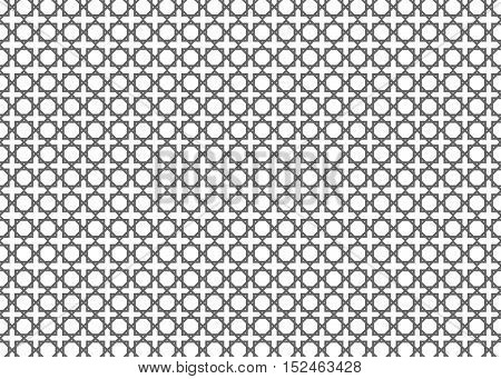 Arabic islamic grey background with geometric pattern. Abstract vector background.