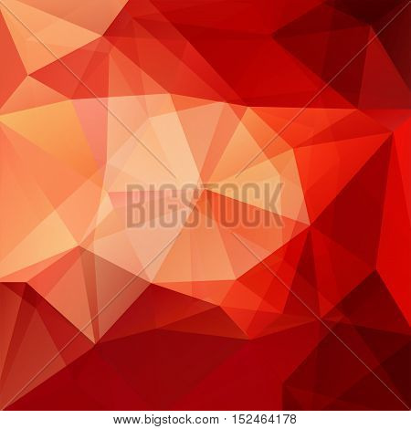 Abstract Polygonal Vector Background. Orange Geometric Vector Illustration. Creative Design Template
