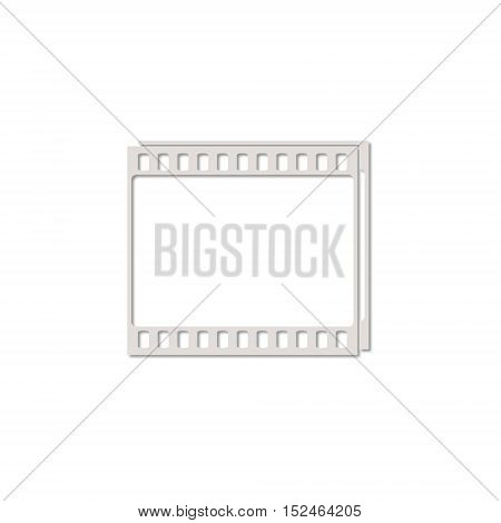 Simple Film Frame icon on white background