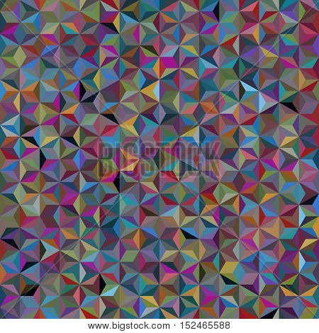 Background Of Gray Geometric Shapes. Seamless Mosaic Pattern. Vector Illustration