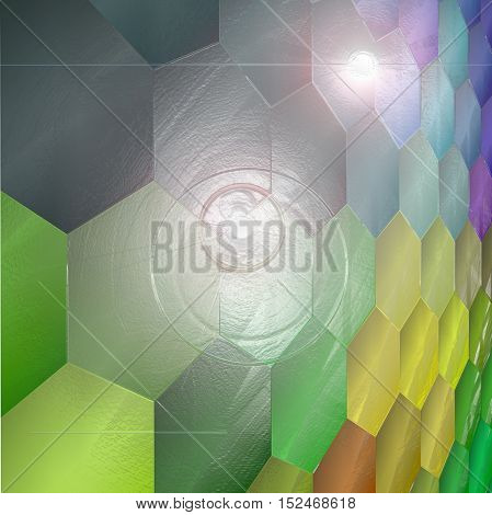 Abstract coloring background of the abstract gradient with visual mosaic,lighting and plastic wrap effects