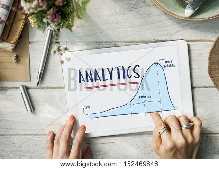 Analytics Report Progress Strategy Concept