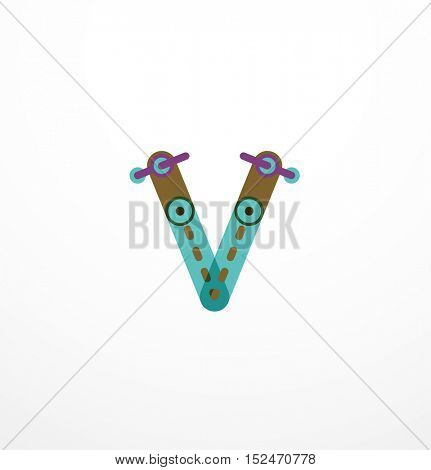 letter logo. Abstract geometric colorful design