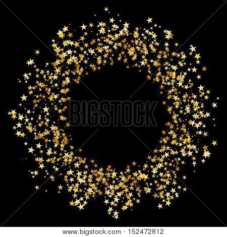 An image of a Gold Star Glitter Confetti Circle.