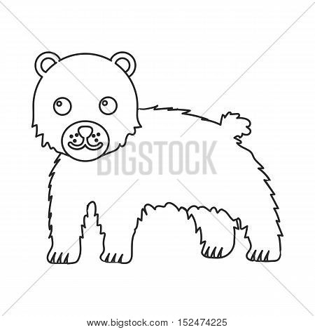 Bear icon outline. Singe animal icon from the big animals outline.