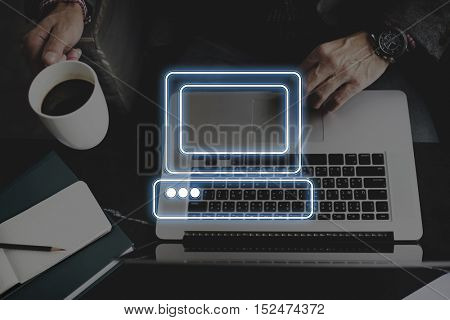 Computer Connection Digital Concept