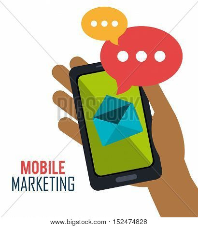 smartphone mobile marketing email vector ilustration eps 10