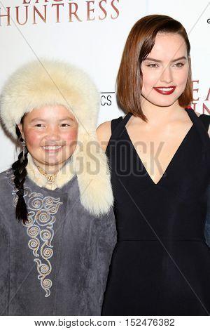 LOS ANGELES - OCT 18:  Aisholpan Nurgaiv, Daisy Ridley at the