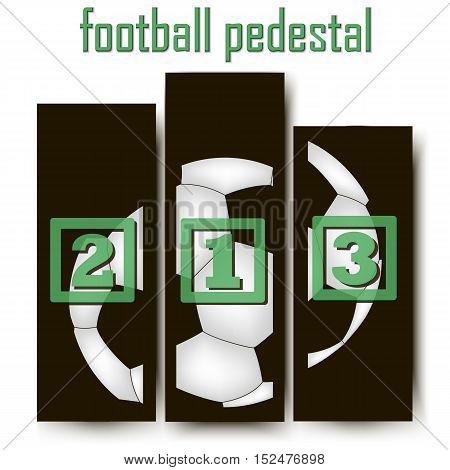 Football Abstract pedestal. Football Abstract pedestal. soccer ball. Vector illustration Vector illustration