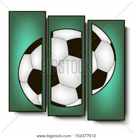 Football Abstract pedestal. soccer ball. Vector illustration