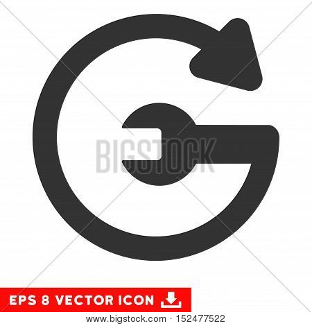 Repeat Service EPS vector pictograph. Illustration style is flat iconic gray symbol on white background.