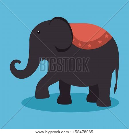 elephant festival funfair design vector illustration eps 10