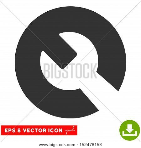 Wrench EPS vector pictogram. Illustration style is flat iconic gray symbol on white background.