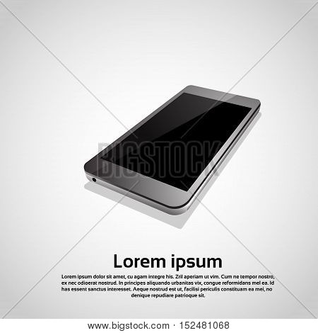 Cell Smart Phone Responsive Design Blank Screen Digital Device Icon Vector Illustration