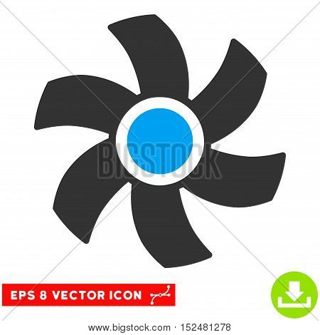 Rotor EPS vector pictograph. Illustration style is flat iconic bicolor blue and gray symbol on white background.