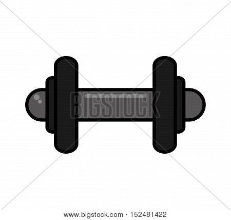 weight lifting equipment isolated icon vector illustration design