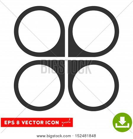 Air Copter EPS vector pictograph. Illustration style is flat iconic gray symbol on white background.