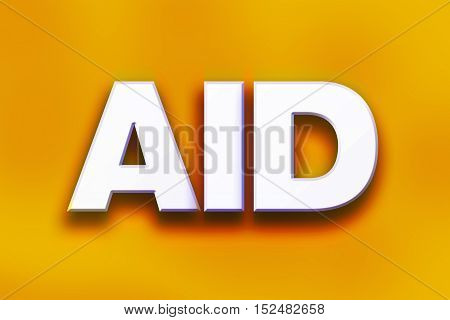 Aid Concept Colorful Word Art