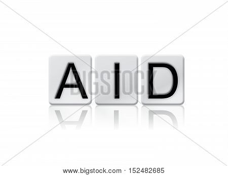 Aid Isolated Tiled Letters Concept And Theme