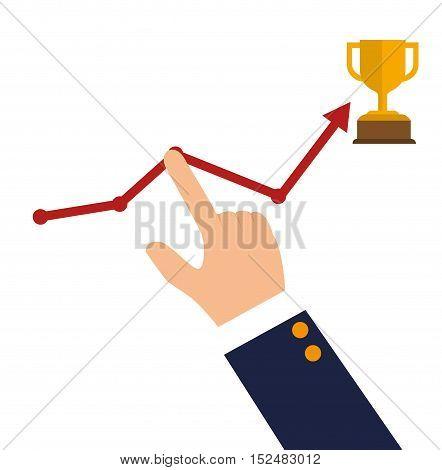 success growth wining icon design vector illustration eps 10