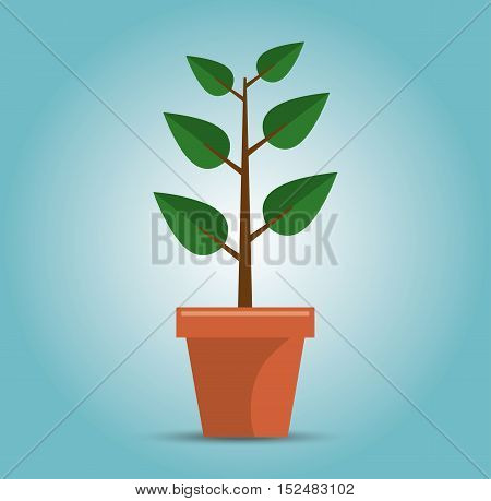 green tree growth concept vector illustration eps 10