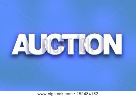 Auction Concept Colorful Word Art
