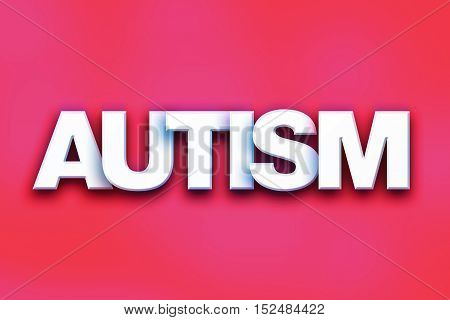 Autism Concept Colorful Word Art