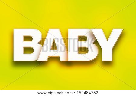 Baby Concept Colorful Word Art