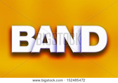 Band Concept Colorful Word Art