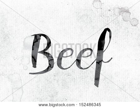 Beef Concept Painted In Ink