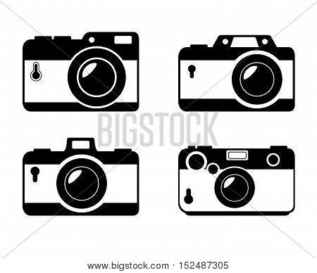 different style camera photographic monochrome design, vector illustration graphic