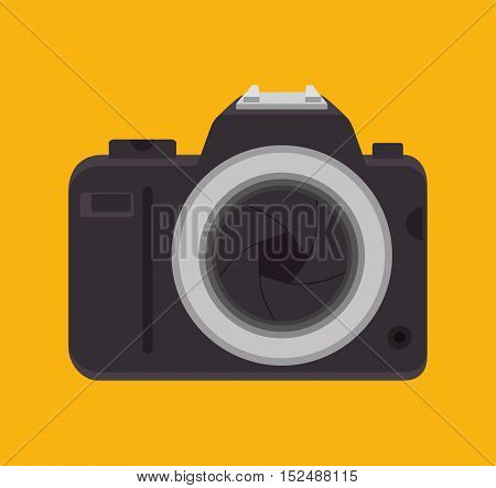 picture camera with lens shutter design, vector illustration graphic