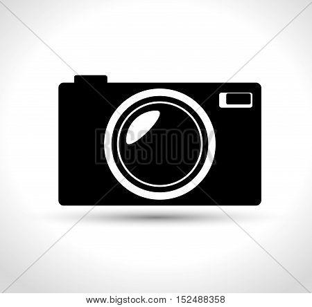 compact photo camera black design, vector illustration graphic