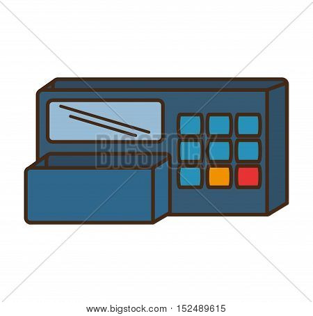 register machine store isolated icon vector illustration design