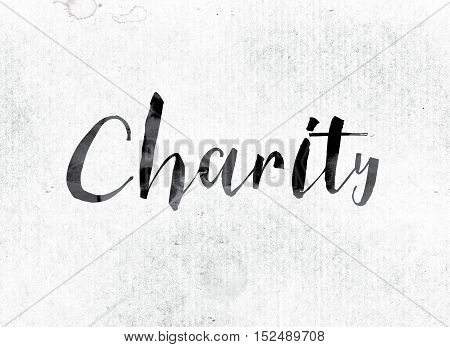 Charity Concept Painted In Ink