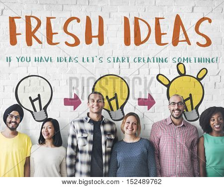 Fresh Ideas Design Inspiration Invention Concept