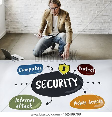 Security Privacy Protect Internet Attack Concept