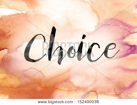 Choice Colorful Watercolor And Ink Word Art