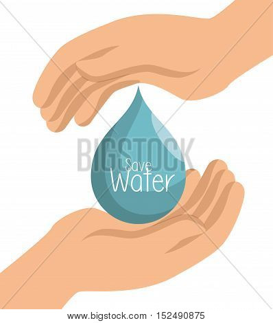 hand prtotected save water symbol vector illustration eps 10