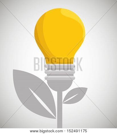 eco energy bulb concept environment vector illustration eps 10