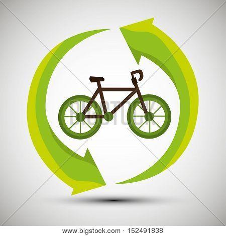 ecological concept bike trasnport icon vector illustration eps 10