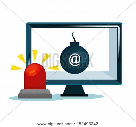 security system data alert design vector illustration eps 10