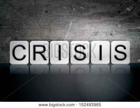 Crisis Tiled Letters Concept And Theme